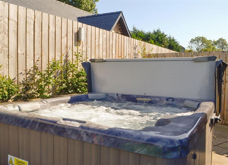 Hot tub at Nant Ddu Lodge,
