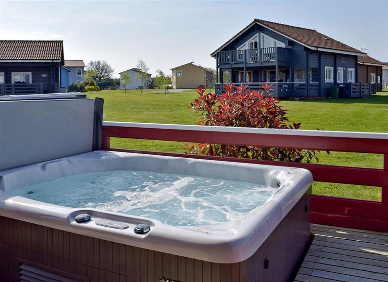 Hot tub at The Suntrap, Fritton, near Great Yarmouth