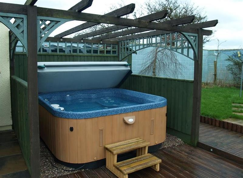 Hot tub at Y Stabl, Fishguard