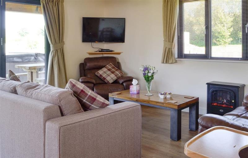 Living room in Nant Ddu Lodge,