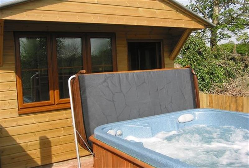 Outdoor Hot Tub At This Cottage Bude