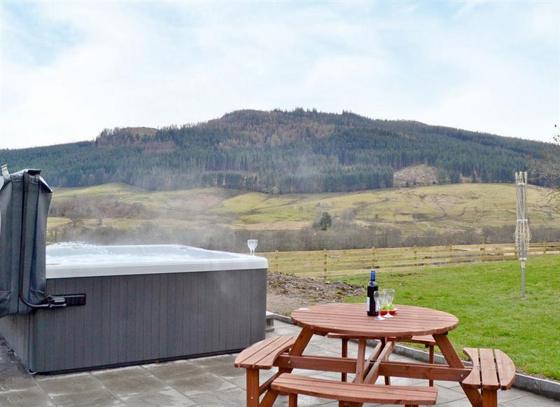 The views from the hot tub at The Steading, Keltneyburn Holiday Cottages, Keltneyburn near Aberfeldy